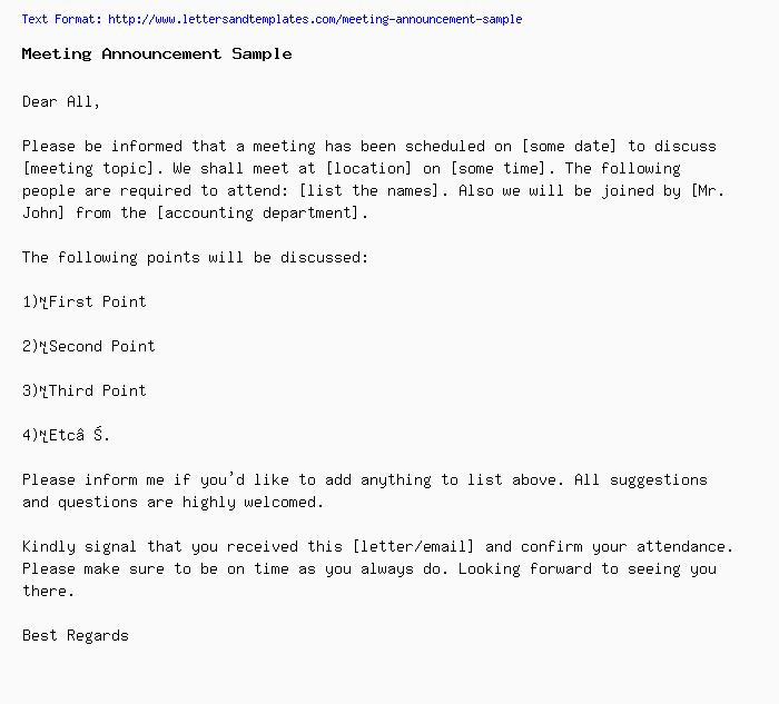 Example Of Memorandum Letter For Meeting from www.lettersandtemplates.com